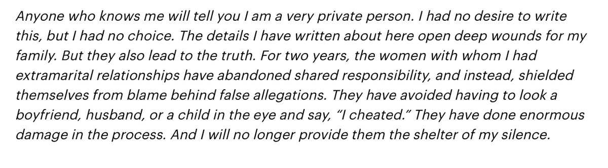 For this premise to work, women would have to be more embarrassed to admit they cheated than to admit they were sodomized against their will. Matt Lauer is pathetic. https://variety.com/2019/tv/news/matt-lauer-rape-denial-letter-1203364695/ …… pic.twitter.com/5eZvrrlbPD