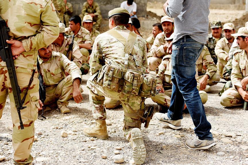 British troops training Kurdish forces in Syria