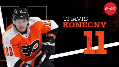 TK!   Konecny is on an absolute tear. 3g-2a in two games.   If you're keeping score at home, that's good.   #NJDvsPHI | #FlyOrDie