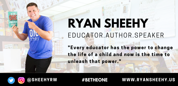 Ryan, Principal/Author/Speaker. Checking in from Northern CA! Pumped for tonights chat. #BeTheOne