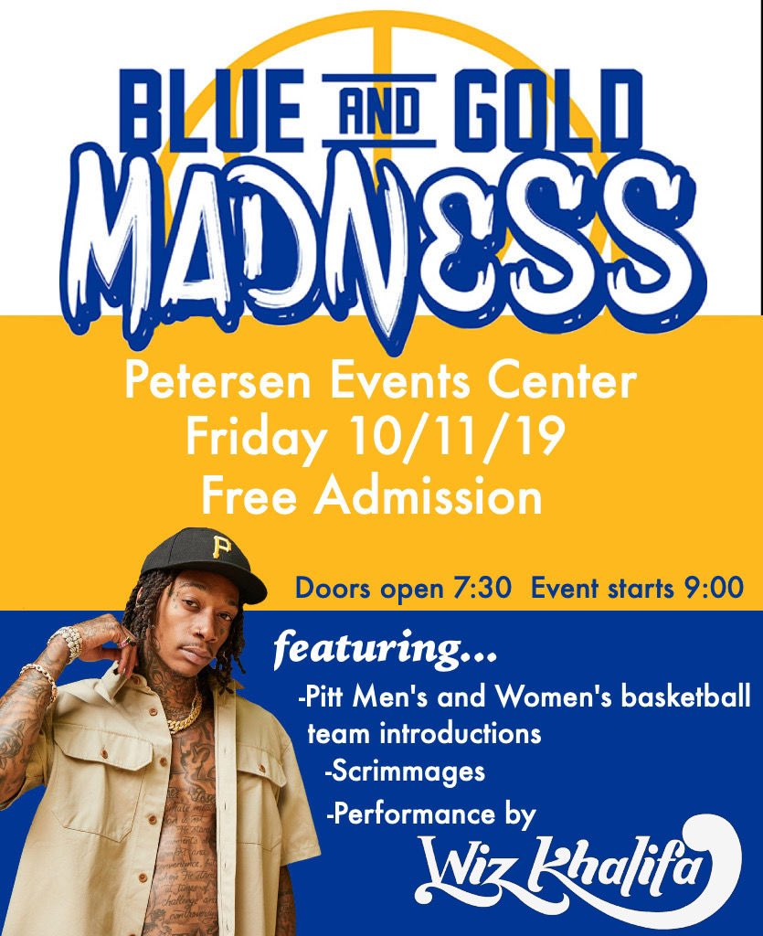 Want to know what will be even more lit? Attending Blue and Gold Madness with the Zoo on Friday night and getting a free concert from @wizkhalifa ‼️