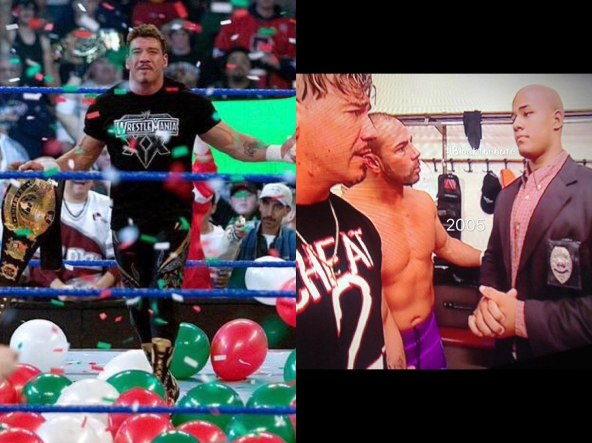 """Eddie and Chavo were my 1st ever appearance on @wwe TV 📺 in 2005 and I was shitting bricks 🧱 Eddie calmed me down so much 😭 I miss him dearly and I just know Eddie Guerrero would still be in the ring today getting after it!"" @realfredrosser Happy Birthday Eddie 🎂"