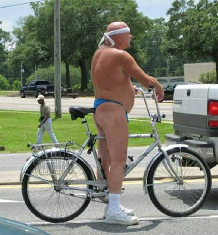 #OtherUsesForPants Leave them at home when you're out for a bike ride