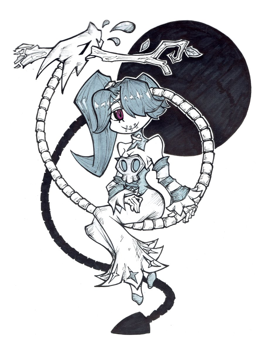 Day 9 // SWING #Inktober2019 #Inktober #inktoberday9 #skullgirls #squigly Did some happy Squigly to cheer some blue buddy 👀 Squiglys are pure bless and have healing properties 👌✨💜