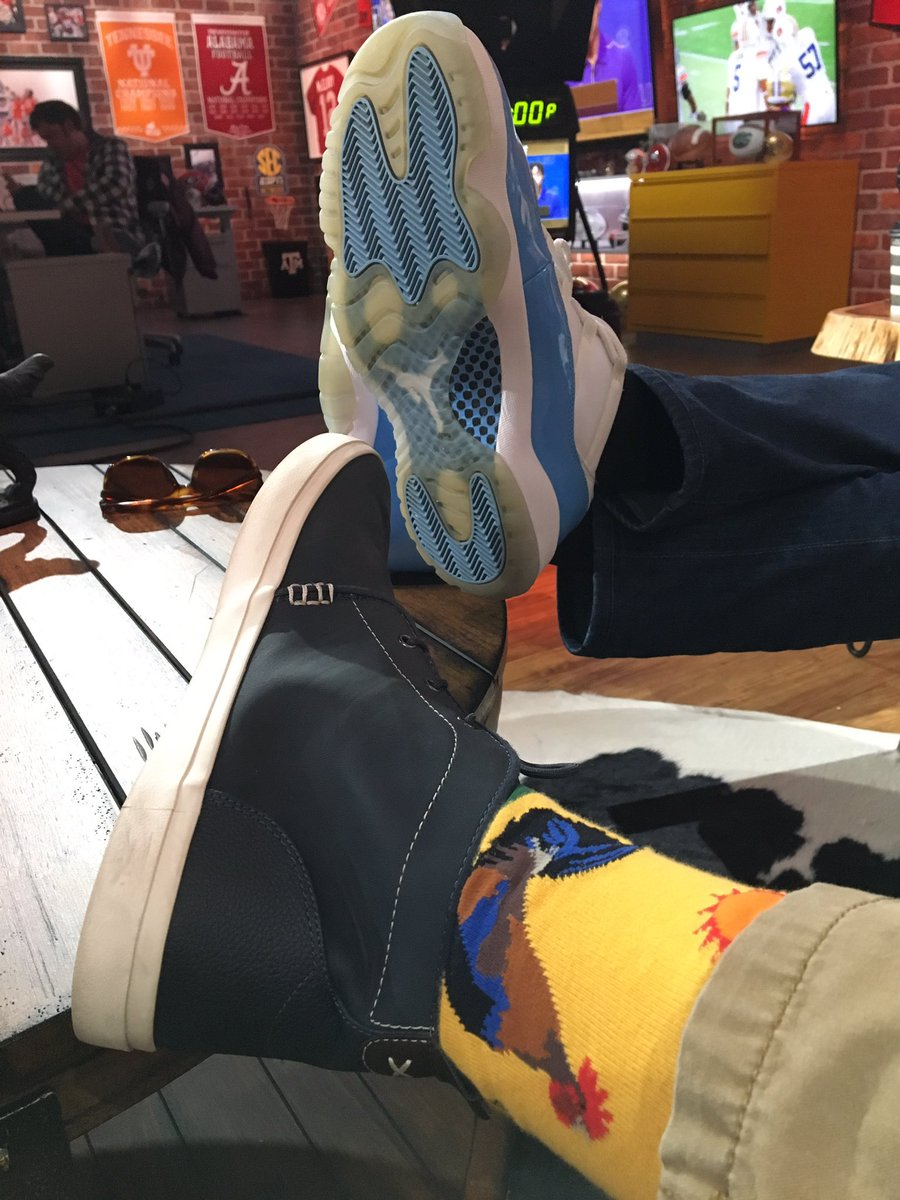 #MartyandMcGee tonight on @SECNetwork, 7 PM ET and many re-airs after that. Tonight we talk people-watching at #CarRenFest, #HillbillyHeadlines and get a dance lesson from @jjetsjeff9 ahead Saturday's huge Florida-LSU game. And we sport awesome footwear.