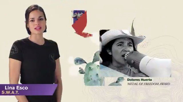 CBS and @LinaEsco celebrate #HispanicHeritageMonth by honoring civil rights activist Dolores Huerta.