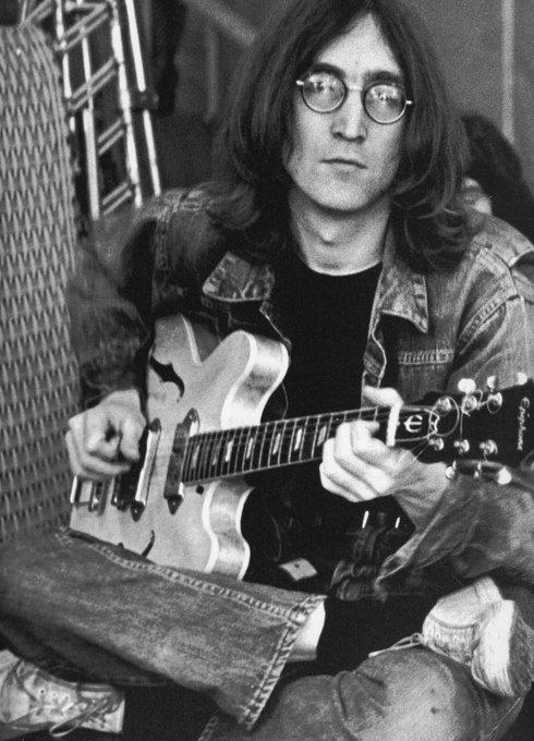 Happy birthday and thank you to john lennon<3