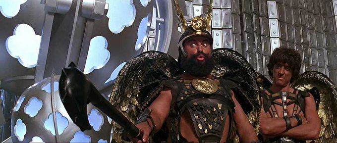 Happy 83rd birthday to FLASH GORDON star Brian Blessed!  DIIIIIIIIIVE into some birthday cake, Brian!