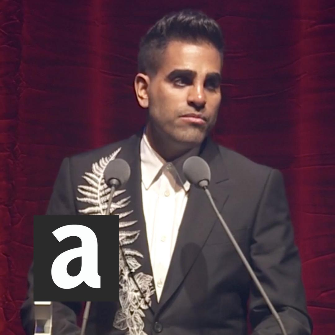 As an LGBT+ person of colour, often its quite easy to get overlooked. We dont always get the limelight. We dont always get noticed. We have to work quite hard sometimes. This is so important. @DrRanj accepts the TV Award at the #AttitudeAwards.