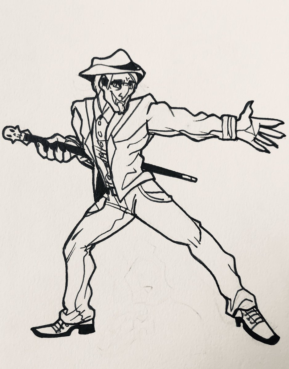 A vamp Swing dancer for #Inktoberday9! Showing off some o' my lines~