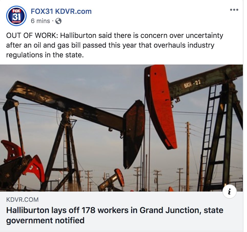 The anti-energy bill from the Colorado Democrats is having a real-life impact on hardworking Colorado families, and there is no denying it is hurting our economy. The war on energy workers and their families must stop now. #copolitics