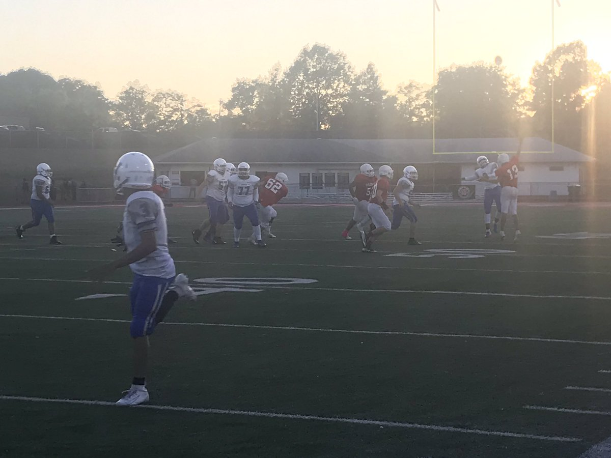 Yours truly was nearly in the middle of this play! Hamilton playing at Colerain, on the scoreboard 16-0 at the start of the second half. #BigBlueOnTheMove #FutureFocused #FutureReady<br>http://pic.twitter.com/ChkAfrUj9a