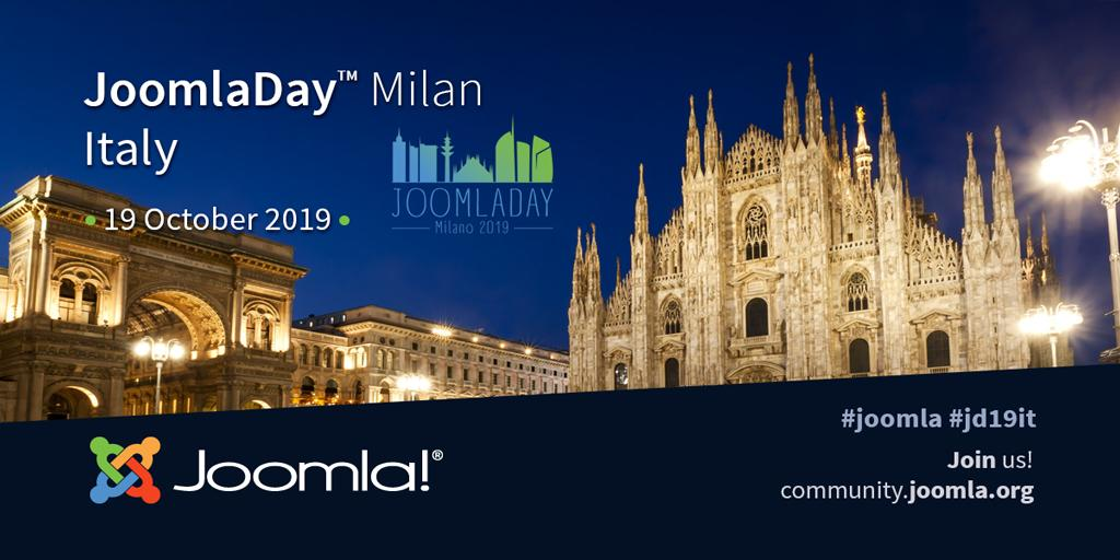 Don't miss out! JoomlaDay Milan, Italy October 19, 2019 #JD19IT Register FREE for this event!  #Joomla #JDay #event #learning #Italy   https://www. joomladay.it/it/    <br>http://pic.twitter.com/Rw7wHJXtp9