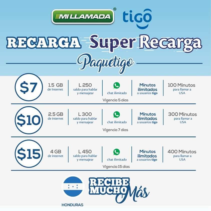 📲 🤓 Desde $7 podrás activar hoy a tus familiares en #Honduras 🇭🇳 la NUEVA #SuperRecarga #Paquetigo.  Hazlo en cualquier parte de los Estados Unidos. 🇺🇸  🔔 También   #recargas #centroamerica #catrachos #hondureñosenusa #tigohonduras #tigo #honduraspost