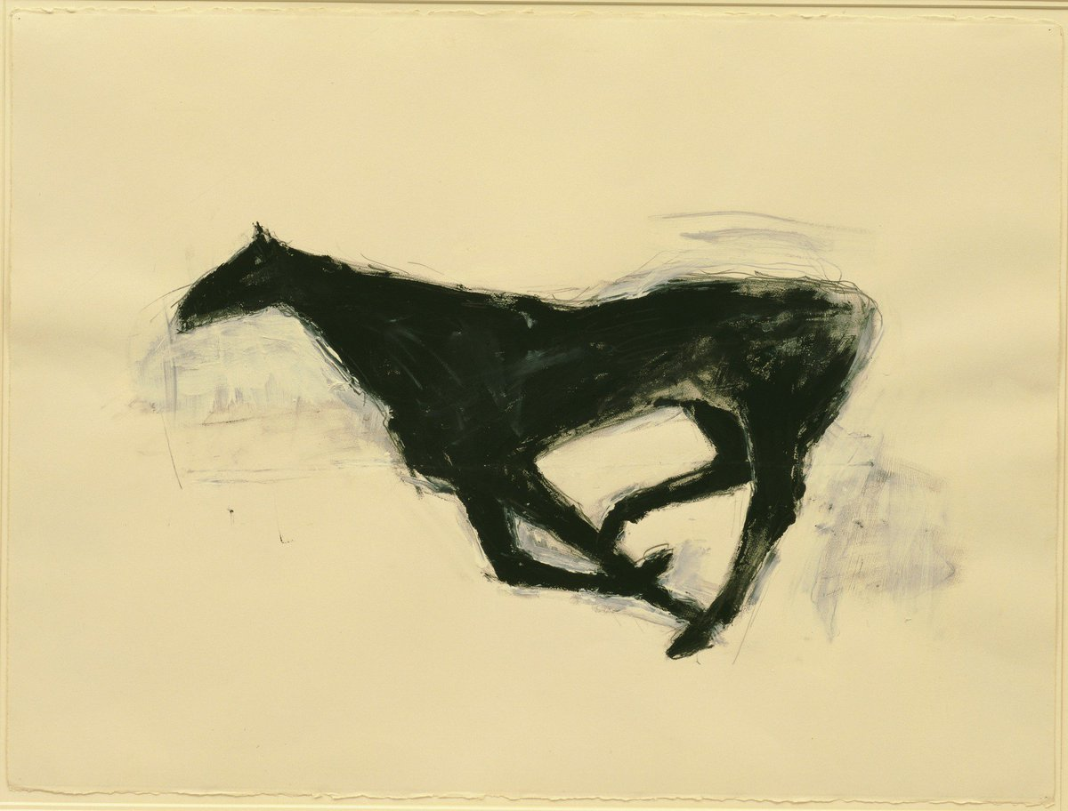 Moca On Twitter Her Painting The Hulk 1979 Demonstrates Her Signature Aesthetic The Painting Is Pared Down With The Horse S Head Along With Two Of Its Legs Discernible Only As White Shapes