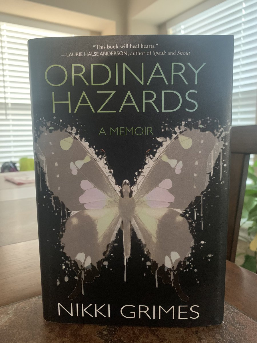 Happy belated #BookBirthday (I received it in the mail a day late 😱😬😥) to @nikkigrimes9 Ordinary Hazards A Memoir!