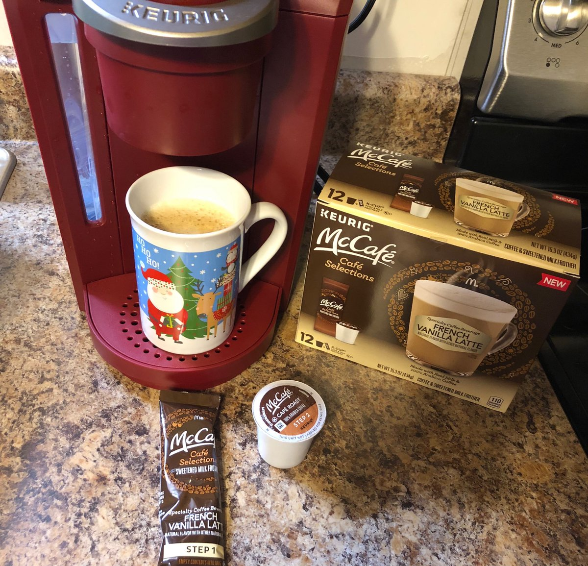 I love how satisfyingly sweet & creamy McCafe Selections French Vanilla Latte's at home are using Keurig K-cup pods and powdered milk frother packets now found at Walmart!!  #ad #freesamples #SimplyDeliciousAtWalmart @Walmart @SheSpeaksUp<br>http://pic.twitter.com/Eg8qNPjMHk