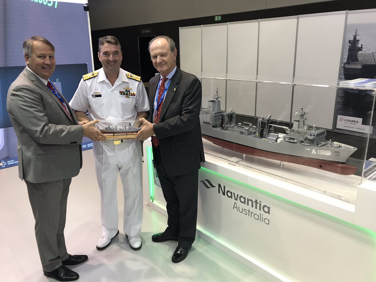 Delighted to present RADM Jonathan Mead, Commander Australian Fleet with his own AOR today