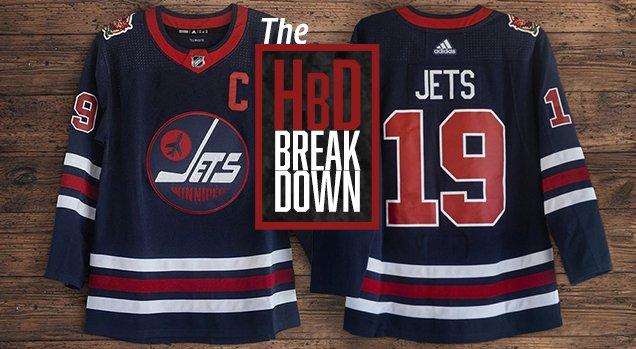 New #HbyD! HbD Breakdown: Winnipeg Jets Heritage Classic Jerseys (by @radkern)   More older jerseys are coming back to life, and Winnipeg's latest addition pays tribute to their WHA days. And we break it down.