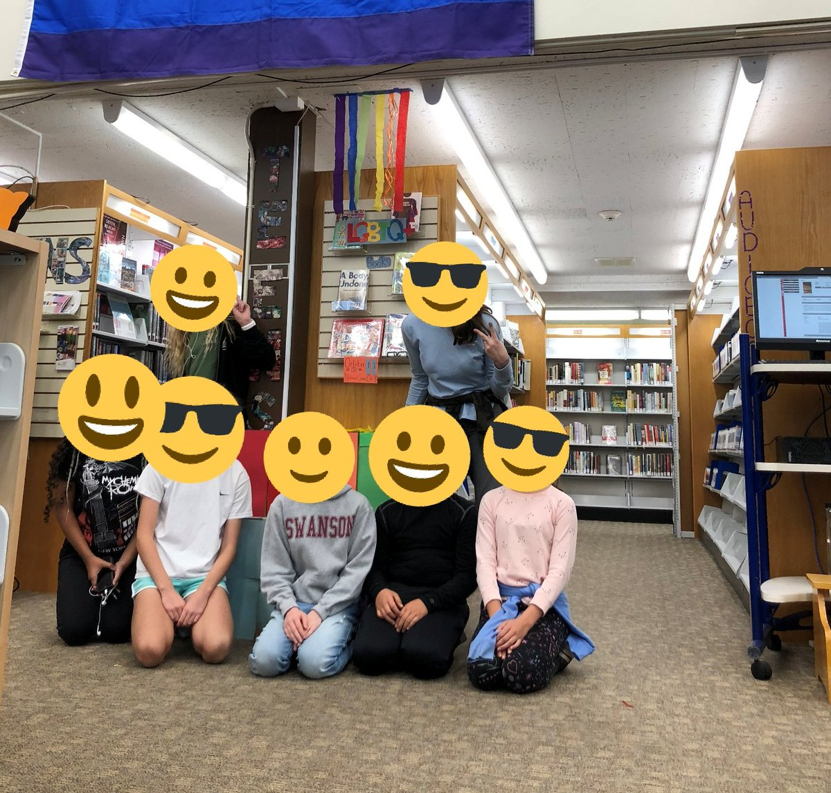 I love the collaboration between our school and Cherrydale Library, our closest <a target='_blank' href='http://twitter.com/ArlingtonVALib'>@ArlingtonVALib</a> branch. Some awesome DHMS students helped create a display for National Coming Out Day. ❤️🏳️🌈 <a target='_blank' href='http://twitter.com/DHMS_EEC'>@DHMS_EEC</a> <a target='_blank' href='http://twitter.com/APSLibrarians'>@APSLibrarians</a> <a target='_blank' href='http://search.twitter.com/search?q=belongandbecome'><a target='_blank' href='https://twitter.com/hashtag/belongandbecome?src=hash'>#belongandbecome</a></a> <a target='_blank' href='https://t.co/SGtZ1uoaRZ'>https://t.co/SGtZ1uoaRZ</a>