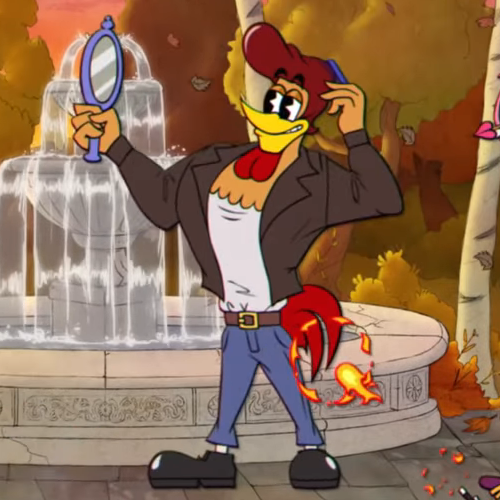 Everyone's talking about how much of a Cuphead ripoff Enchanted Portals is while all I can think about is how much I adore this greaser rooster.