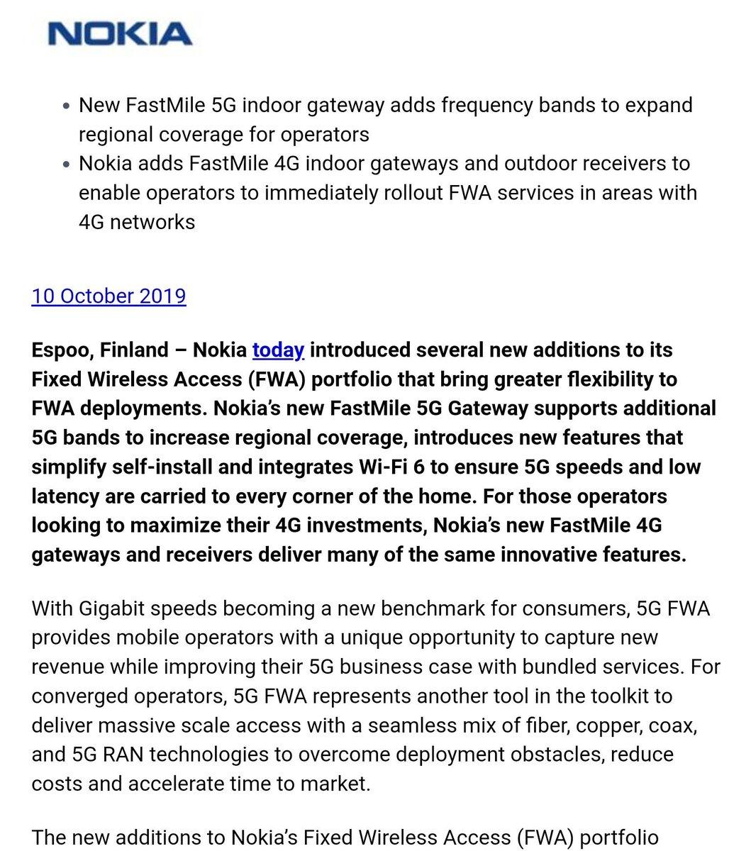 "5G Speeds Australia ben wood on twitter: "".@nokia makes improvements to its"