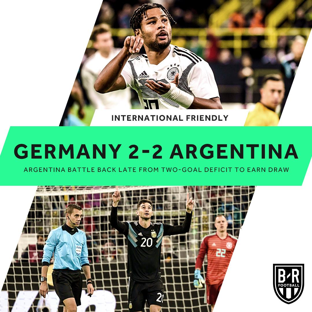 Argentina came from behind to equalise with the Germany boys.   It was very exciting friendly match to watch.💪 #GermanyVsArgentina #tuongeegame