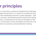 Image for the Tweet beginning: The NavCoin Manifestos clearly set