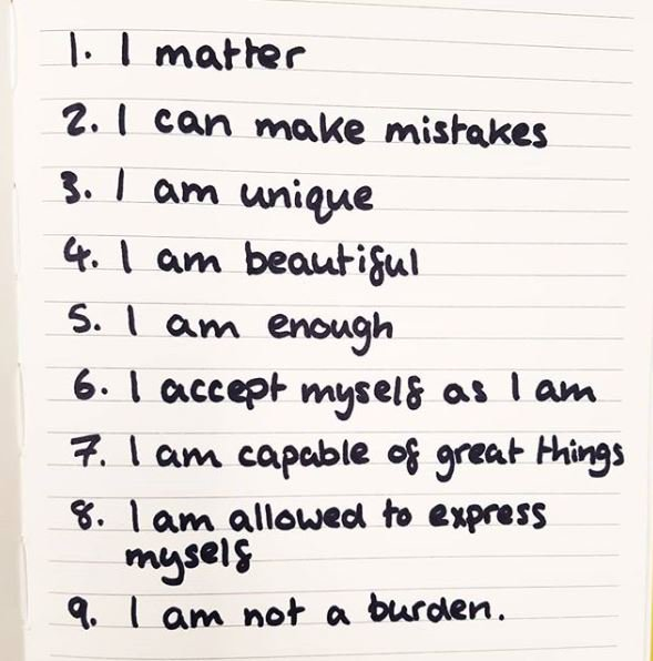 Start your day by telling yourself these affirmations by our Activist Maya 💛 #HelloYellow #WorldMentalHealthDay