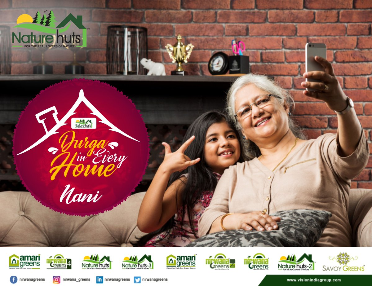 This Navratri, Nirwana greens wishes you comfy and safe bonds of home with your Nani maa.  #Happynavratri #Durgaofhome #Nirwanagreens #TricityTrustedBuilder #Kharar #Mohali