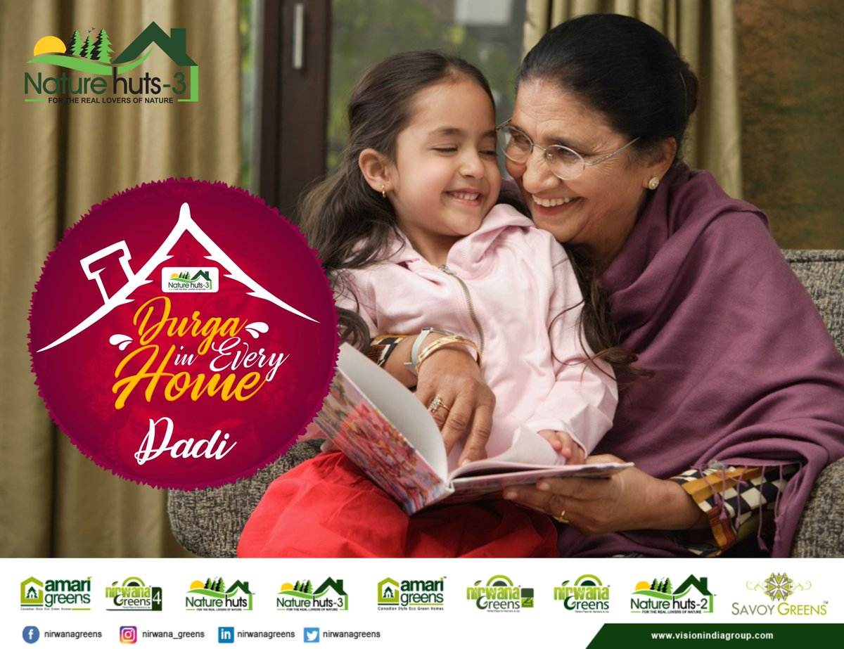 Spending time with Dadimaa makes home a special and blessed place to live in.  Nirwana greens wish you a happy Navratri.  #Happynavratri #Durgaofhome #Nirwanagreens #TricityTrustedBuilder #Kharar #Mohali
