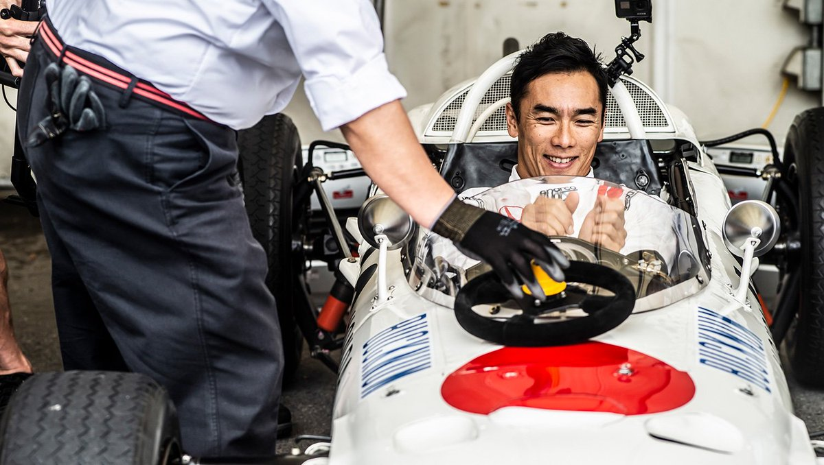 Its time for @TakumaSatoRacer to take the wheel 👊 Hes all set with the @HondaRacingF1 RA272 🇯🇵 #JapaneseGP