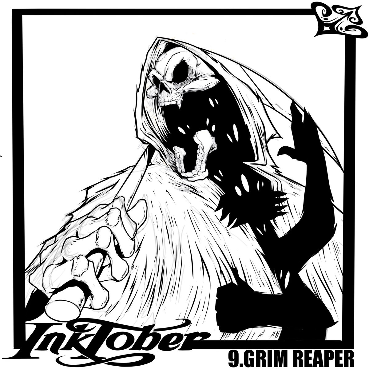 RT @DunMpa: #Inktoberday9 #grimreaper #grimreapertattoo #blackartist https://t.co/xqUZGw5ALH