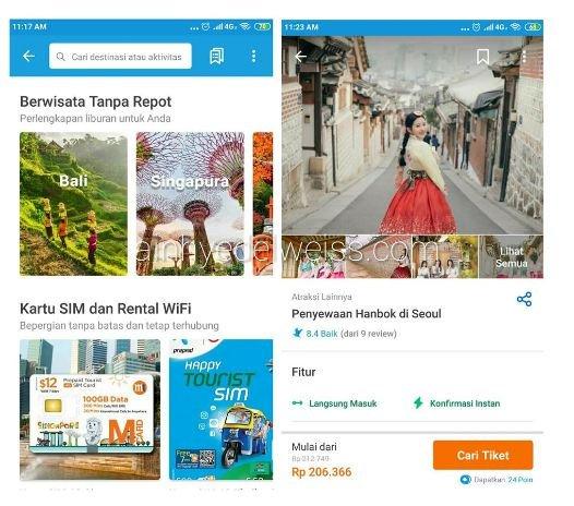 Layanan Traveloka Xperience kategori Perlengkapan Perjalanan
