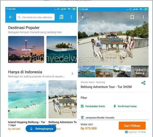 Layanan Traveloka Xperience kategori Tur
