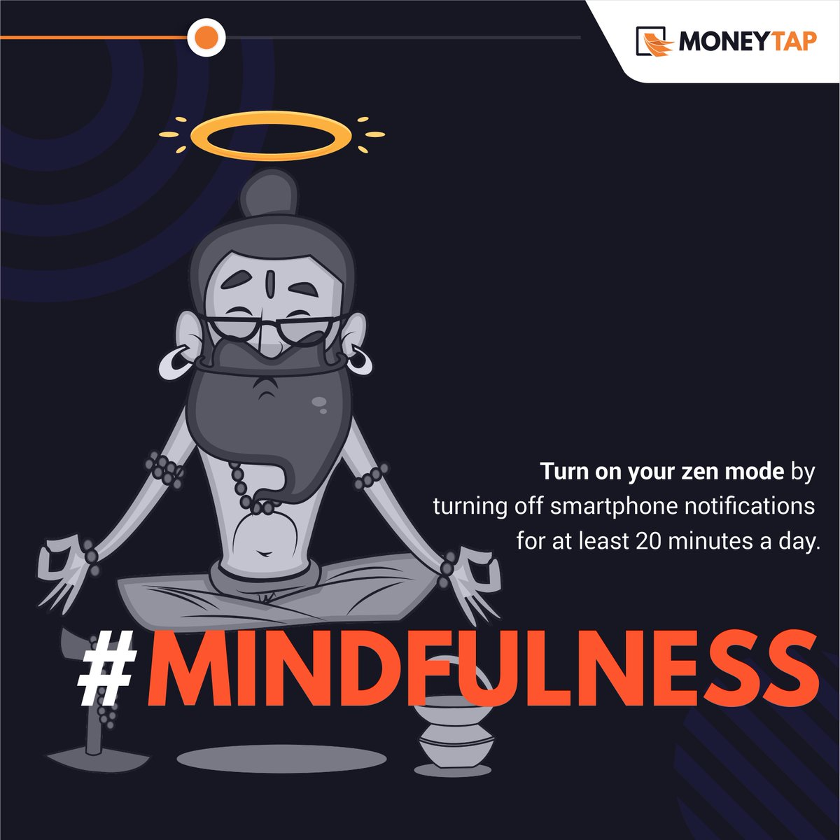 Take a small step towards a big change – set small goals for yourself in the beginning. Gradually, reach the ultimate zen mode by turning off all gadget notifications for a minimum of 20 minutes a day.   #MoneyTap #WorldMentalHealthDay  #WorldMentalHealthDay2019 #ThursdayThoughts<br>http://pic.twitter.com/7TmJng2BRy