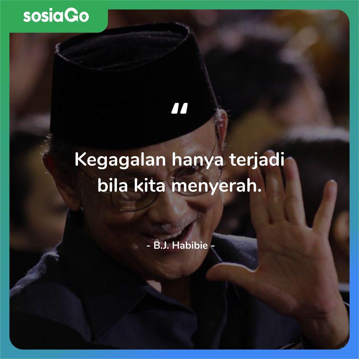 Salah satu putra terbaik bangsa Indonesia telah meninggalkan kita bulan lalu. Tapi, peninggalannya masih bisa kita rasakan sampai sekarang. Salah satunya adalah quotenya yang bersejarah 🇮🇩.#bjhabibie #quotes #janganmenyerah #motivationalquotes #motivasi #ripbjhabibie