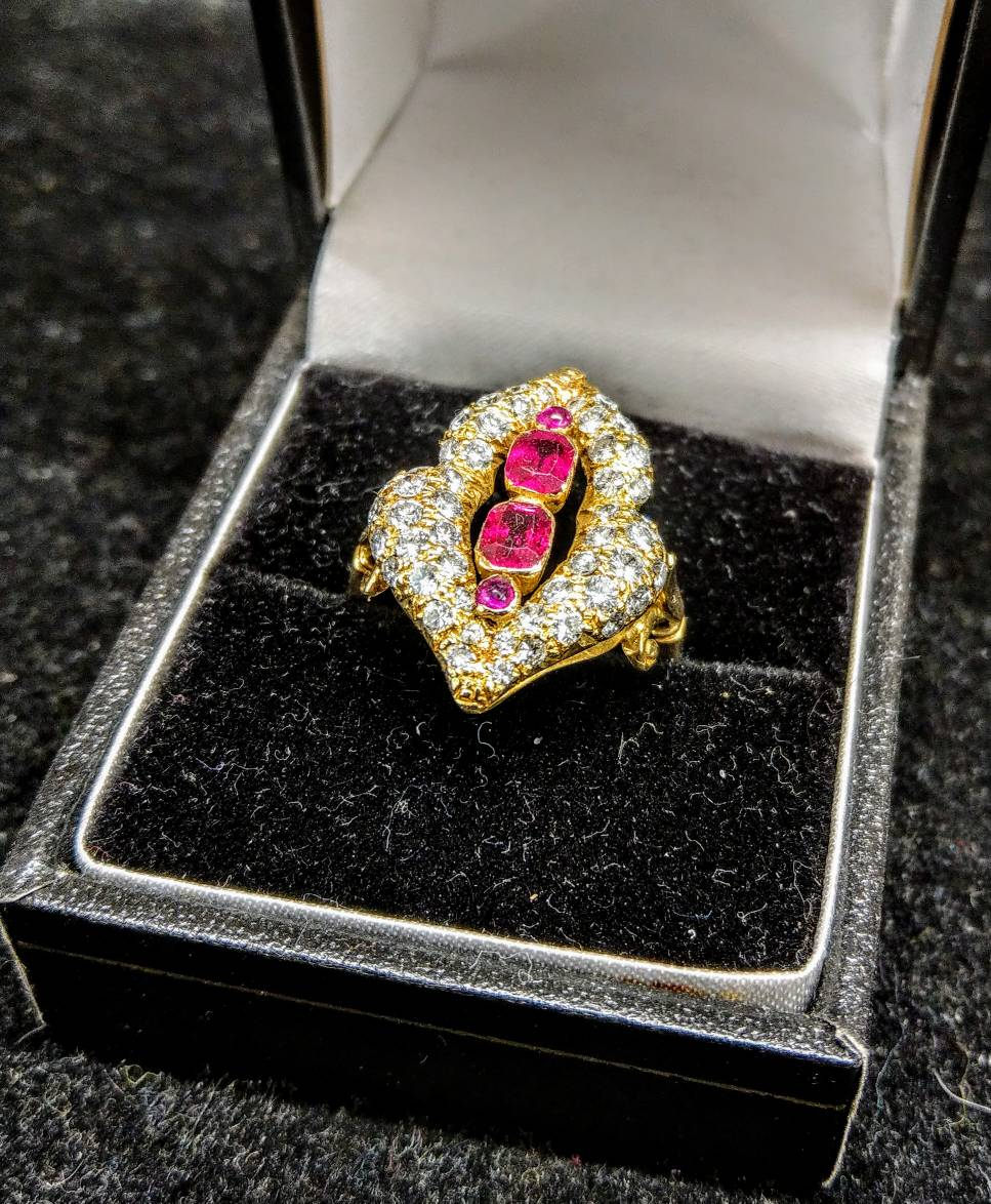 Simply stunning 18ct gold, ruby and diamond ring #LoveTheBarbican #MoreInStore