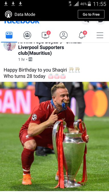 Happy 28 birthday to lfc and Swiss international xherdan shaqiri, kopites loves u, enjoy bro it\s ur day