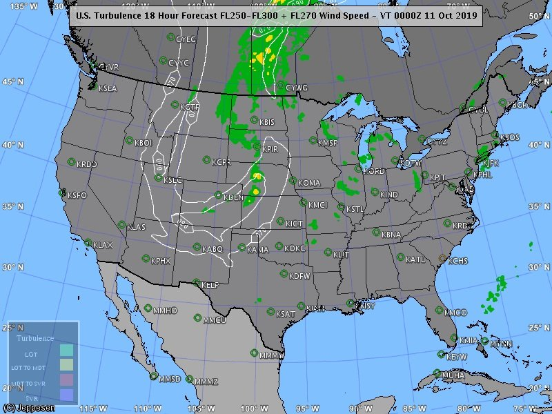 Some #turbulence over the Northeast, Midwest & Northern Plains today.