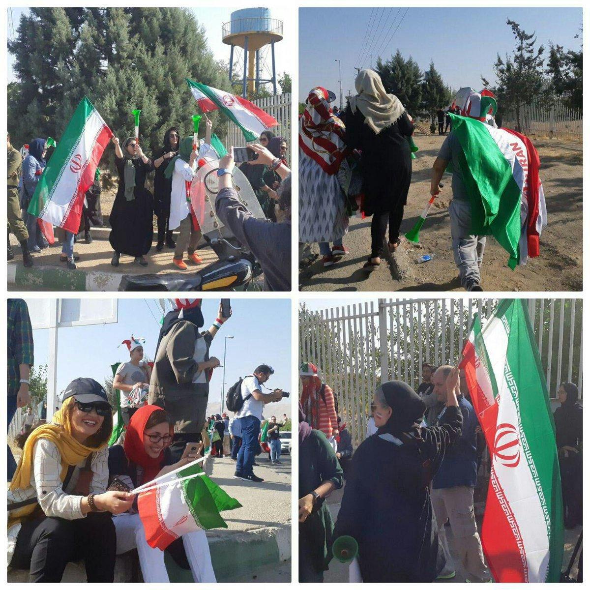 جناب آقای جمهوری با سلام و تحیات زنانی که با پرچمت به ورزشگاه میروند را باید دست ببوسی نه اذیت کنی. من الله توفیق #با_من_به_ورزشگاه_بیا