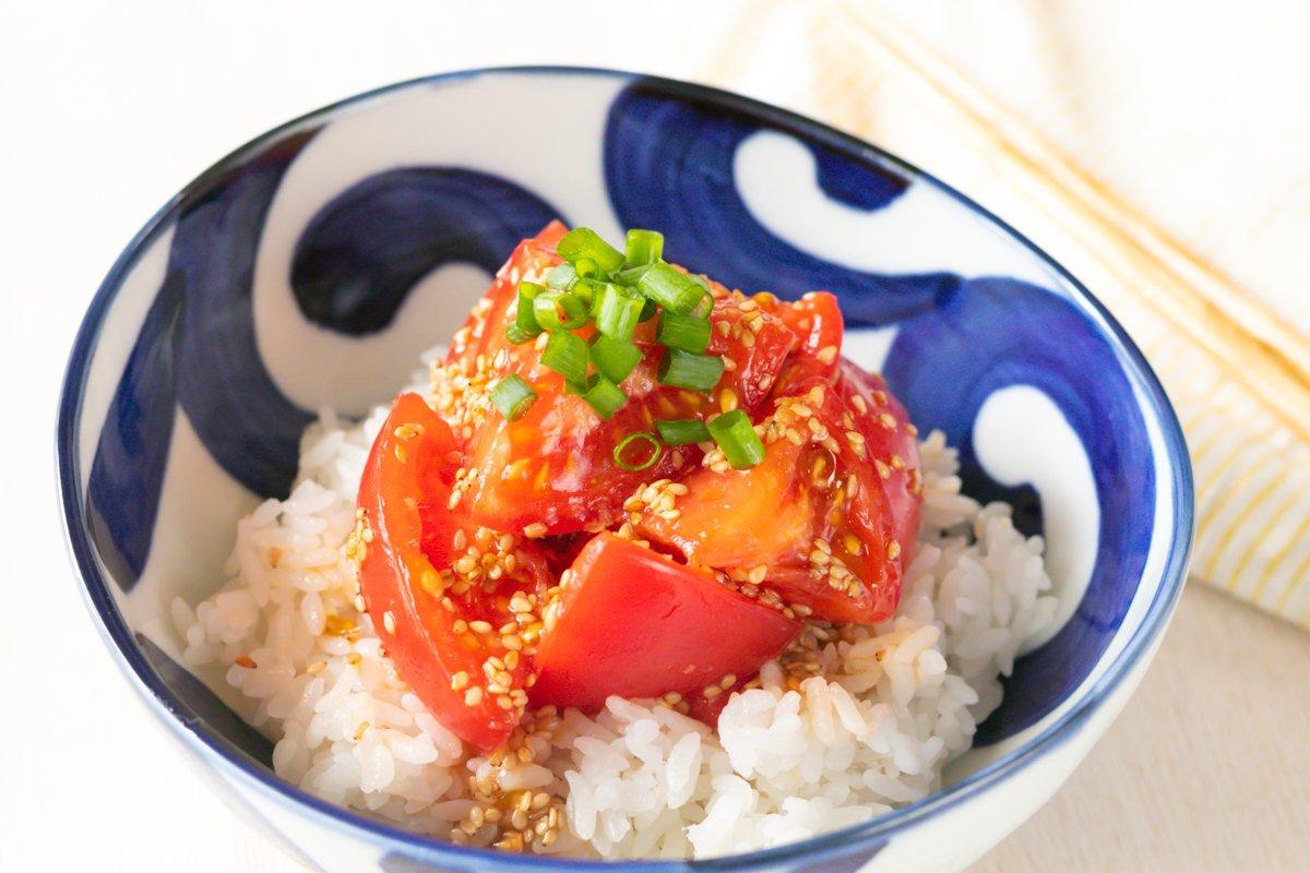 【レシピ】「トマト丼」まじで信じられないほど、 トマトがご飯に合う…!!