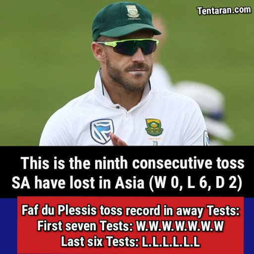 This is the ninth consecutive toss SA have lost in Asia (W 0, L 6, D 2) . .  #INDvSA #SAvIND #Cricket #India #cskreturns #cricketfever #testcricket #cricketball #TeamIndia<br>http://pic.twitter.com/Z5QmZaoCxv