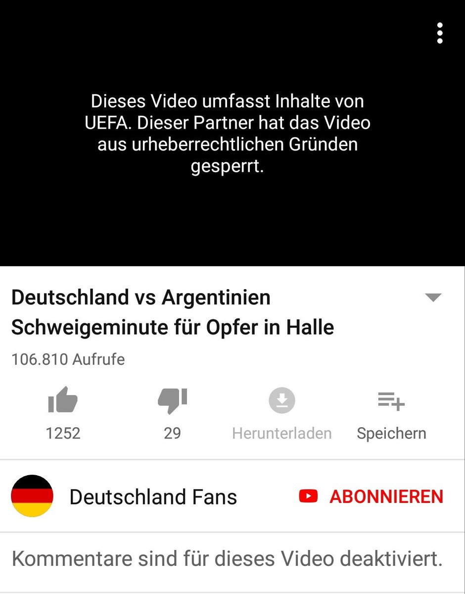 Hey @UEFA @UEFAcom_de what about giving a shit about copyright in these days so that everyone can see/hear an upright person! #gerarg #GermanyVsArgentina