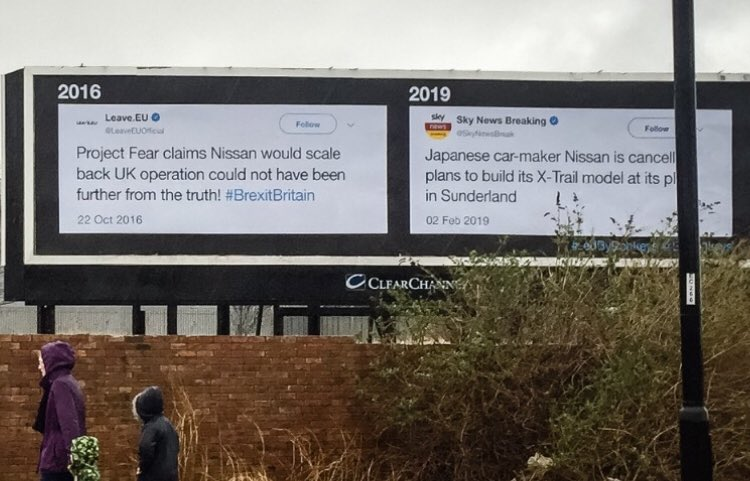 Nissan has just announced its axing the night shift at its Sunderland plant. Last time it scaled back production there we put up this billboard in the city. Solidarity with the people affected.