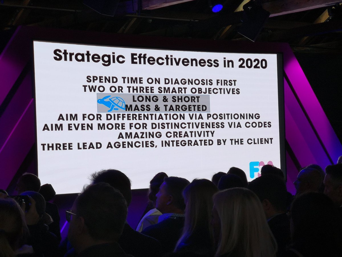 Fantastic opening from @markritson for @FestofMarketing His key recommendations for strategic effectiveness in 2020 #FoM19