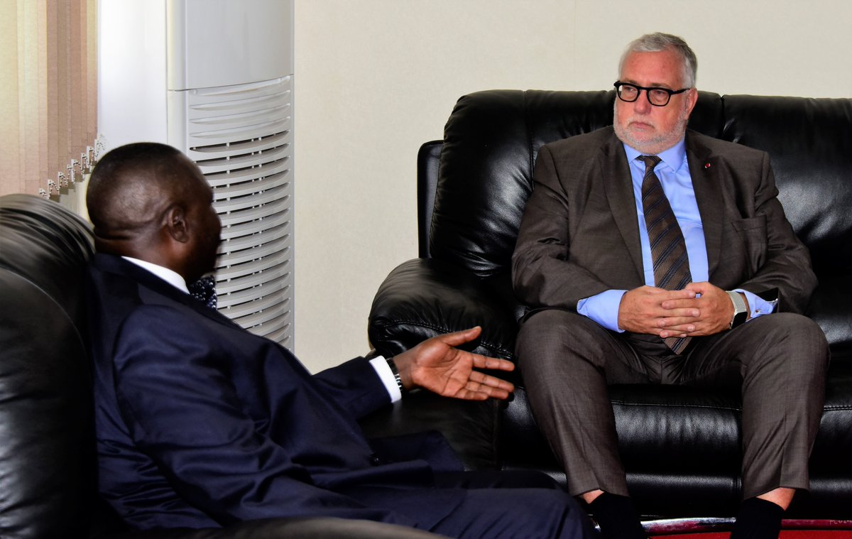 The  Ambassador of Belgium in Uganda and South Sudan, Rudi Veestraeten, has paid a courtesy call on the Deputy Speaker @JacobOulanyah , today 10 October 2019. @BelgiumInUganda