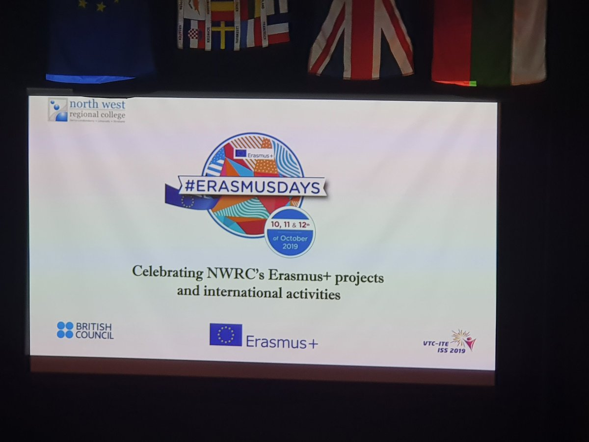 Delighted to be celebrating @mynwrc #Erasmus+ projects and international activities. #erasmusdays
