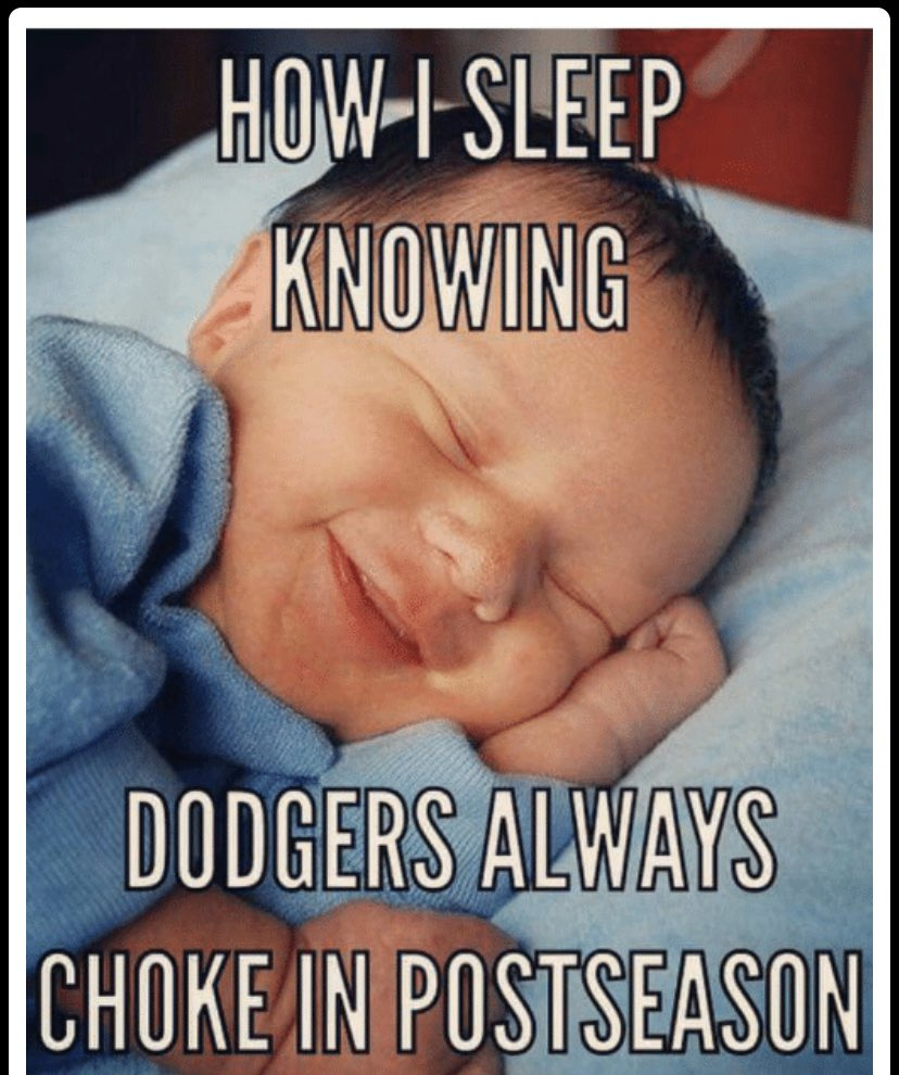 Good morning @Dodgers fans! How are you all feeling this morning?! Don't worry! There's room on the couch to watch the rest of the playoffs :) when you're a giants fan, there's always something to cheer about in October 🤣 #LADvsWSH
