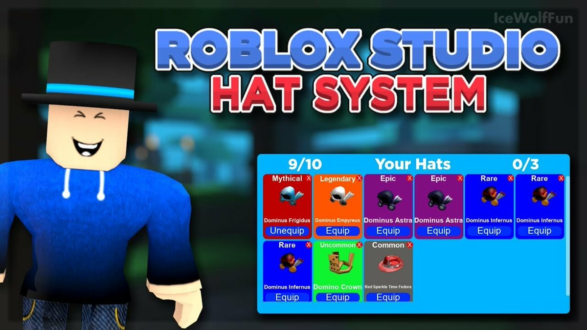 Pcgame On Twitter Roblox Studio Hat Crates With Hat Inventory